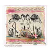 Crafty Individuals - Unmounted Rubber Stamp - Pretty Flamingos