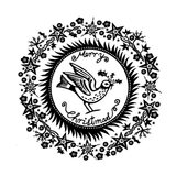 Crafty Individuals - Unmounted Rubber Stamp - 475 - Christmas Holly Bird
