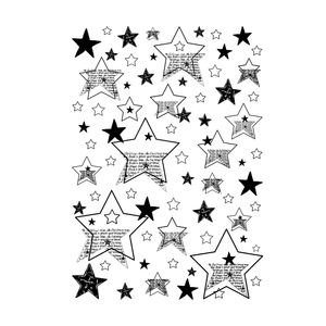Crafty Individuals - Unmounted Rubber Stamp - 479 - Seeing Stars Background