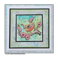 Crafty Individuals - Unmounted Rubber Stamp - 483 - Blossom Robin