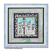 Crafty Individuals - Unmounted Rubber Stamp - 485 - Family and Friends Snowmen