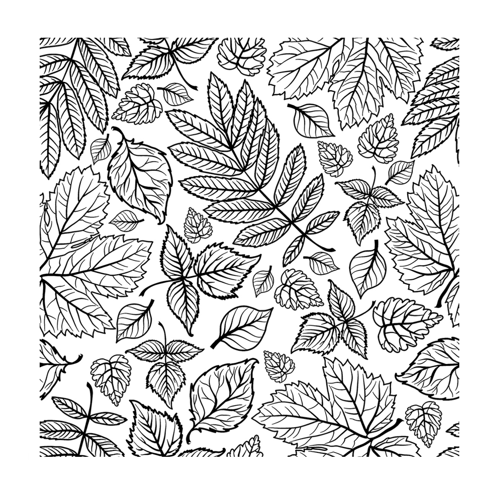 Crafty Individuals - Unmounted Rubber Stamp - 486 - Falling Leaves Repeating Background