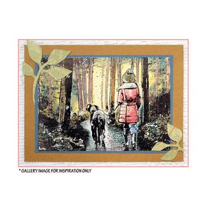 Crafty Individuals - Unmounted Rubber Stamp - 489 - Winter Walkies