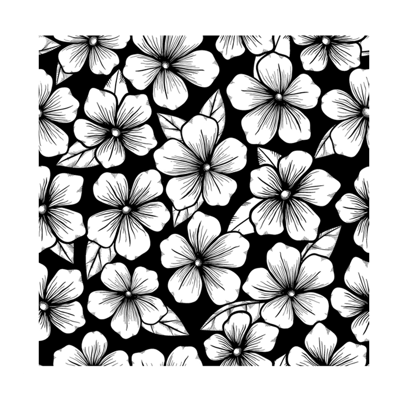 Crafty Individuals - Unmounted Rubber Stamp - 490 - Blossoms Repeating Background
