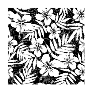 Crafty Individuals - Unmounted Rubber Stamp - 491 - Hibiscus Repeating Background