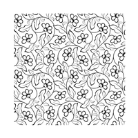Crafty Individuals - Unmounted Rubber Stamp - 492 - Pretty Florals Repeating Background