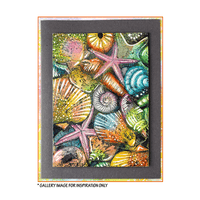 Crafty Individuals - Unmounted Rubber Stamp - 496 - Seaside Seashell Treasures