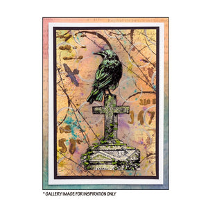 Crafty Individuals - Unmounted Rubber Stamp - 500 - Gothic Crow by Maria Kitano