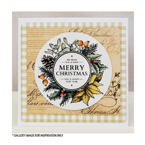 Crafty Individuals - Unmounted Rubber Stamp - 504 - Christmas Wreath