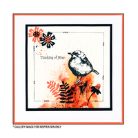 Crafty Individuals - Unmounted Rubber Stamp - 507 - Perching Bird