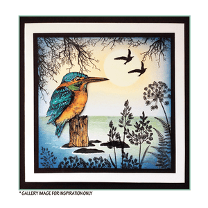 Crafty Individuals - Unmounted Rubber Stamp - 510 - Kingfisher