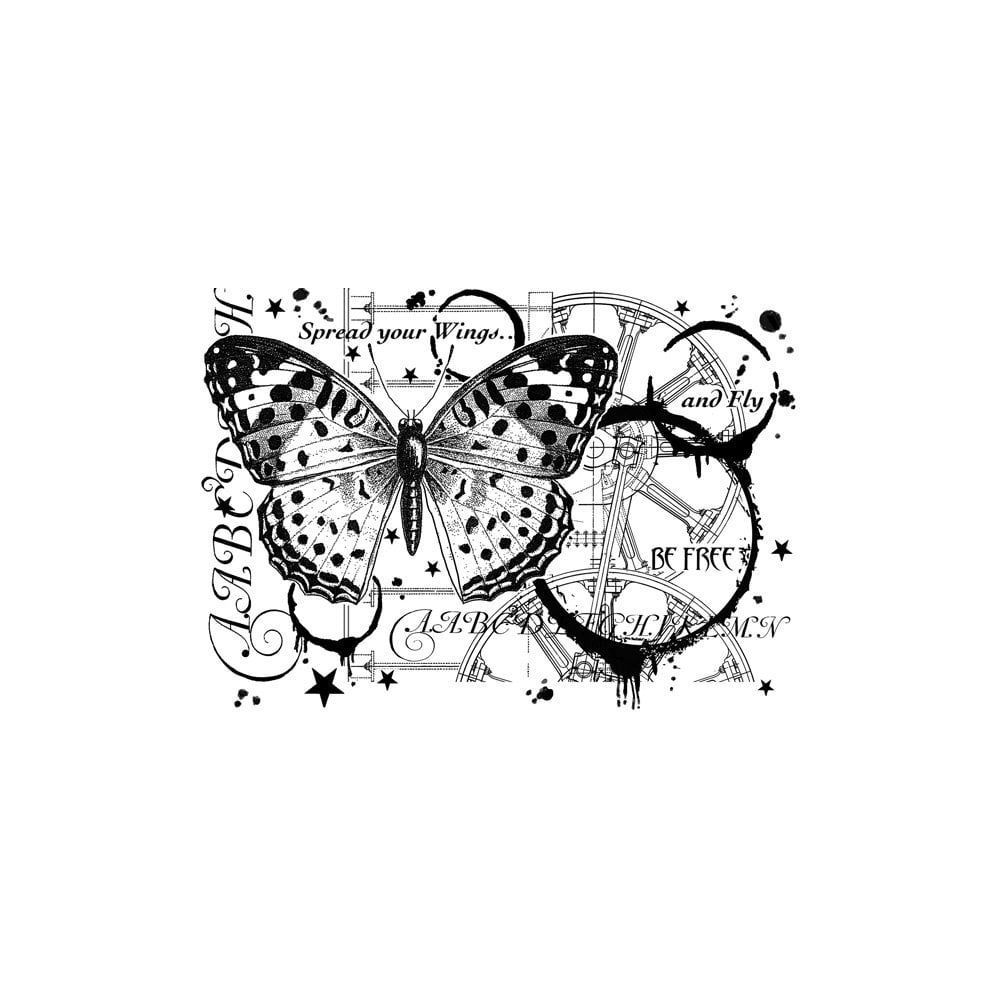 Crafty Individuals - Unmounted Rubber Stamp - 517 - Fly and Be Free