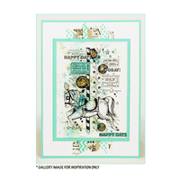 Crafty Individuals - Unmounted Rubber Stamp - 516 - Happy Days Hoorah - Carousel