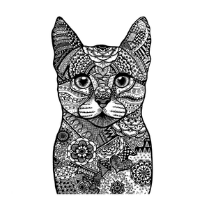 Crafty Individuals - Unmounted Rubber Stamp - 523 - Happy Cat