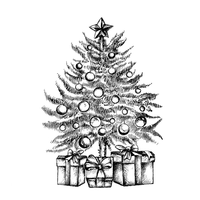 Crafty Individuals - Unmounted Rubber Stamp - 527 - Little Christmas Tree