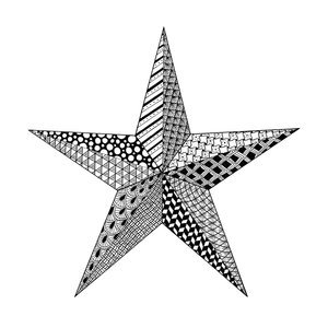 Crafty Individuals - Unmounted Rubber Stamp - 533 - Doodle Star