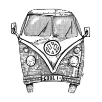 Crafty Individuals - Unmounted Rubber Stamp - 346 - Camper Van COOL 1