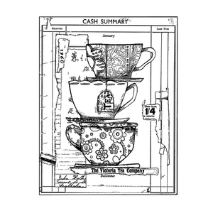 Crafty Individuals - Unmounted Rubber Stamp - 347 - Time for Tea