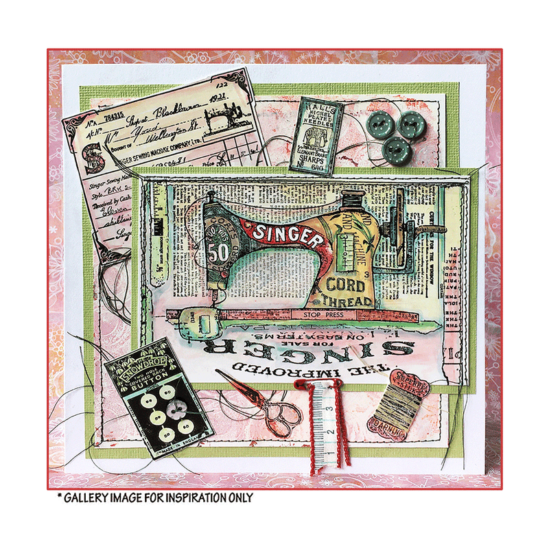 Crafty Individuals - Unmounted Rubber Stamp - 545 - The Sewing Room