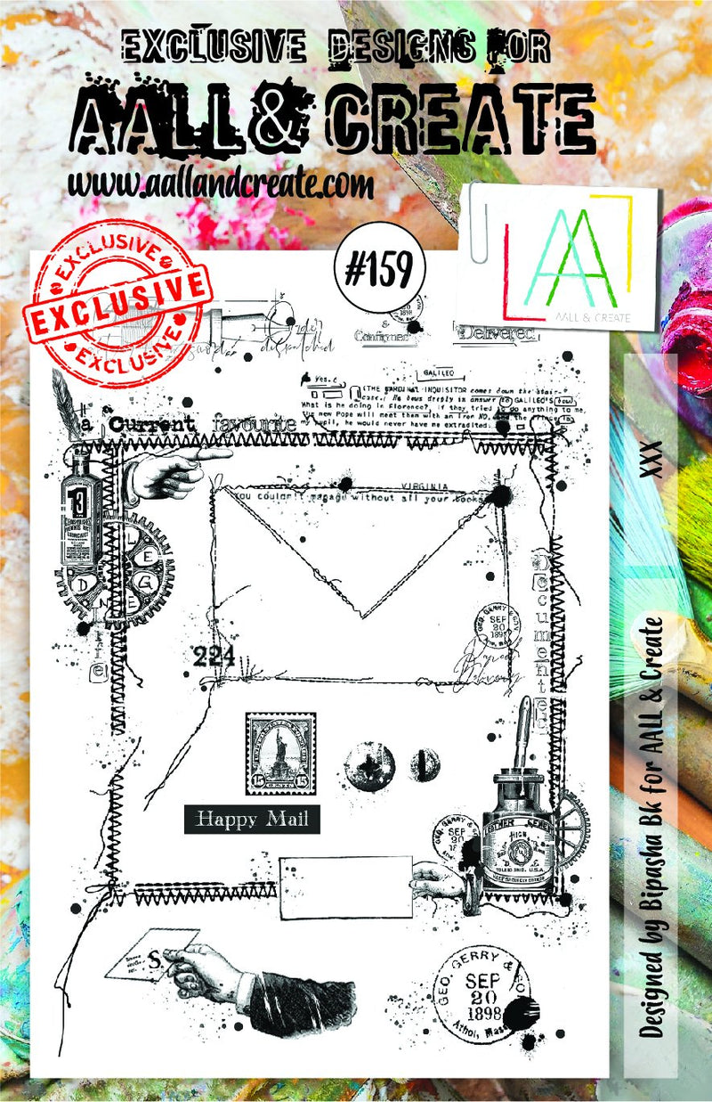 AALL & Create - Clear Stamp Set - A5 - #159 Mail Art