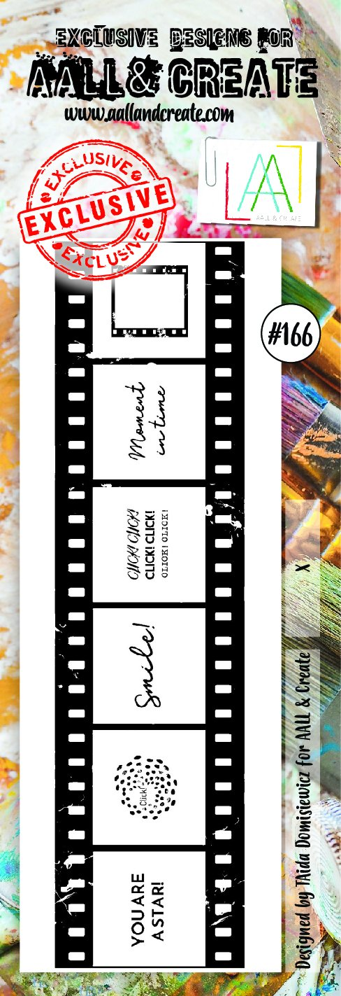AALL & Create - Clear Border Stamp - #166 - Click! - Filmstrip