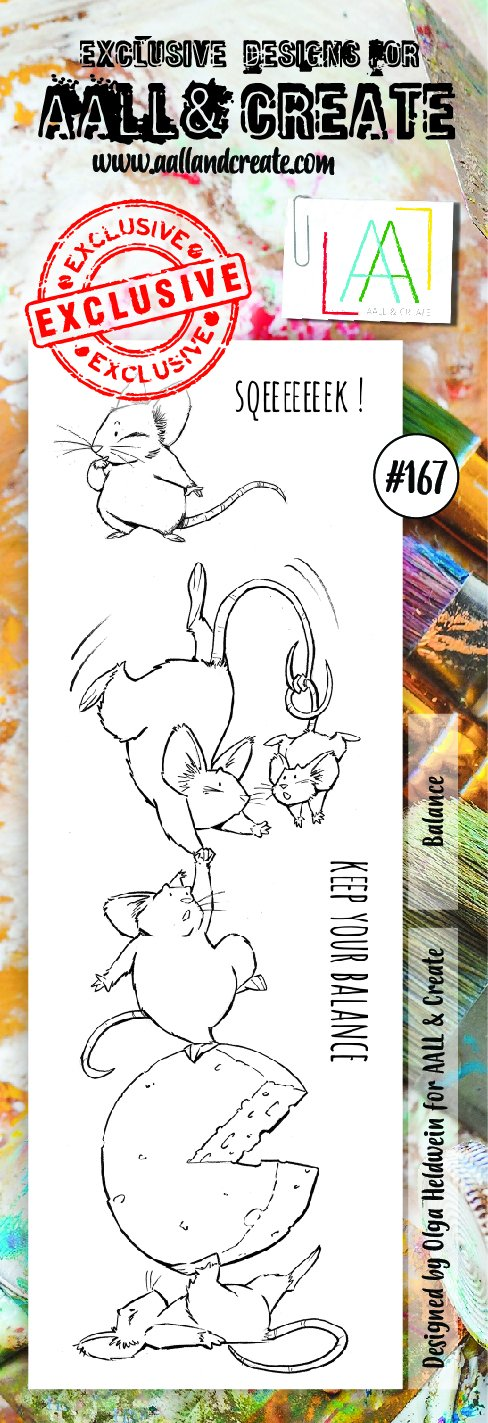 AALL & Create - Clear Border Stamp - #167 - Balance Mice