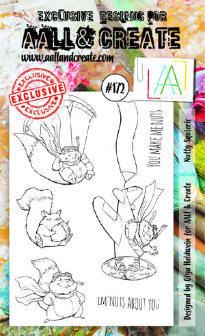 AALL & Create - Clear Stamp Set - #172 - A6 - Nutty Squirrels