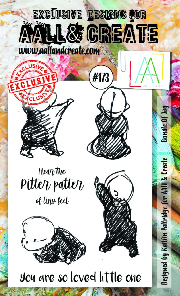 AALL & Create - Clear Stamp Set - #173 - A6 - Bundle of Joy