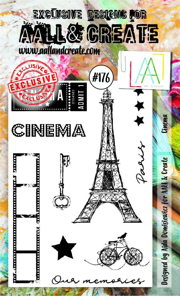 AALL & Create - Clear Stamp Set - #176 - A6 - Cinema