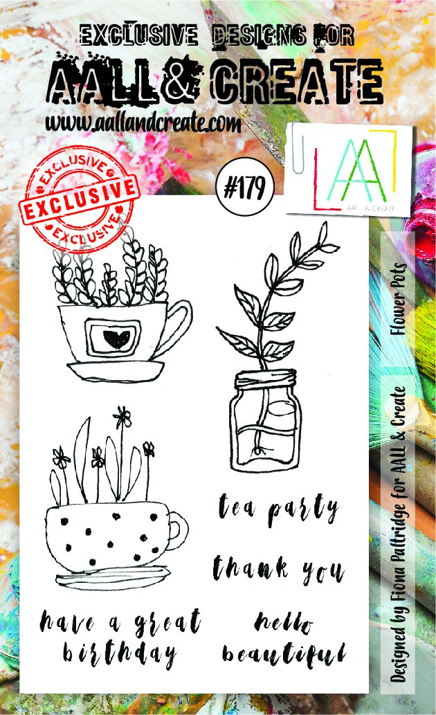 AALL & Create - Clear Stamp Set - #179 - A6 - Flower Pots
