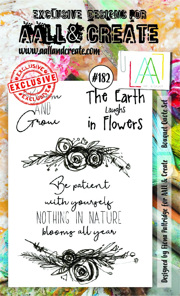 AALL & Create - Clear Stamp Set - #182 - A6 - Bouquet Quote Set
