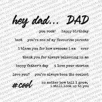 Paper Rose - Hey Dad 4 x 4 - Clear Stamp Set