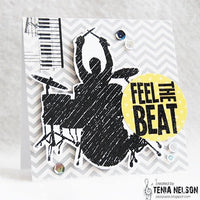 Visible Image - Feel the Beat - Clear Polymer Stamp Set