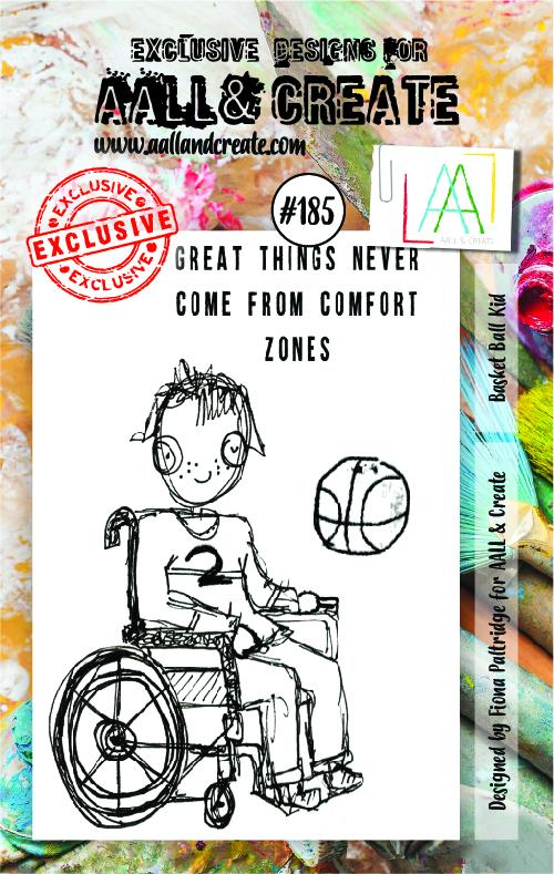 AALL & Create - Clear Stamp Set - #185 - A7 - Basketball Kid