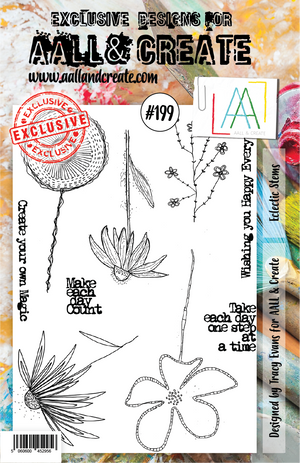 AALL & Create - Clear Stamp Set - A5 - #199 - Eclectic Stems
