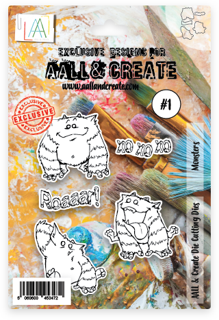 AALL & Create - Die Set - #1 - Monsters