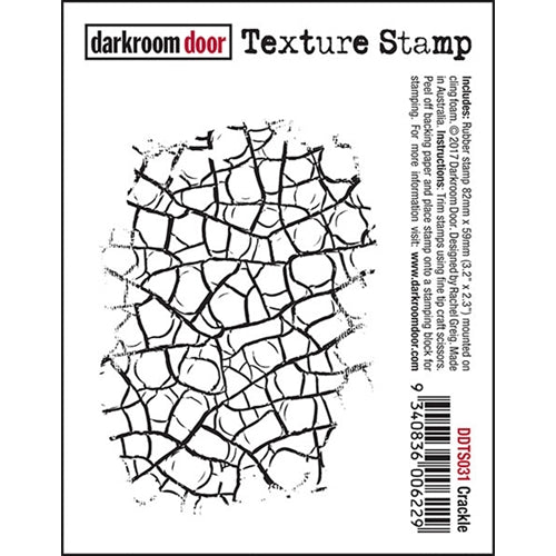 Darkroom Door - Crackle - Red Rubber Cling Stamp