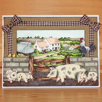 Hobby Art Stamps - Clear Polymer Stamp Set - On the Farm