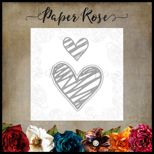 Paper Rose - Scribbled Hearts 1 - Die