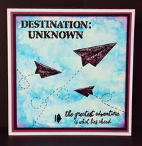 Visible Image - Destination Unknown - Clear Polymer Stamp Set