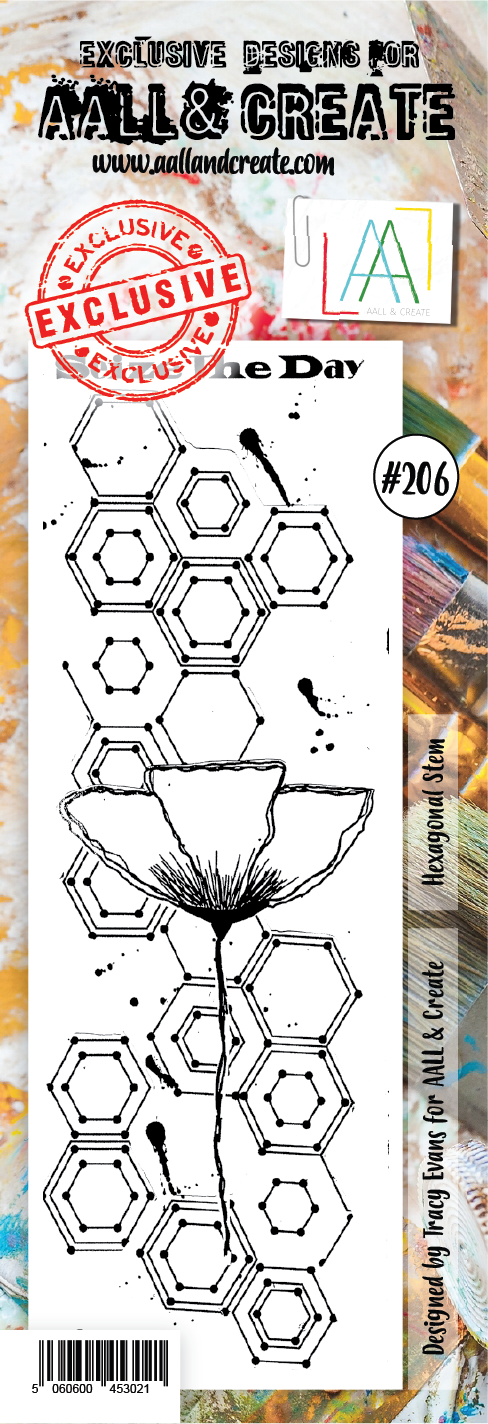 AALL & Create - Clear Border Stamp - #206 - Hexagonal Stem