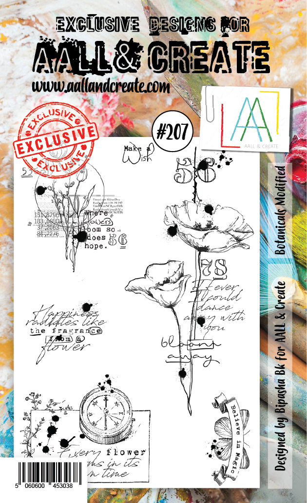 AALL & Create - Clear Stamp Set - #207 - A6 - Botanicals Modified