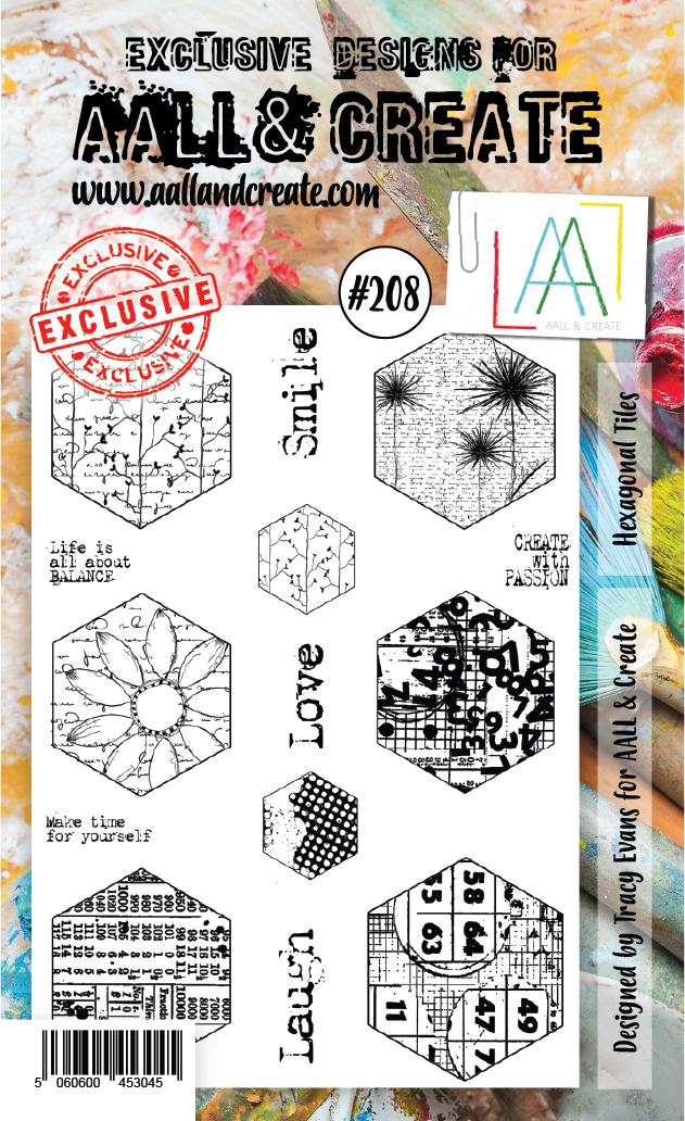 AALL & Create - Clear Stamp Set - #208 - A6 - Hexagonal Tiles