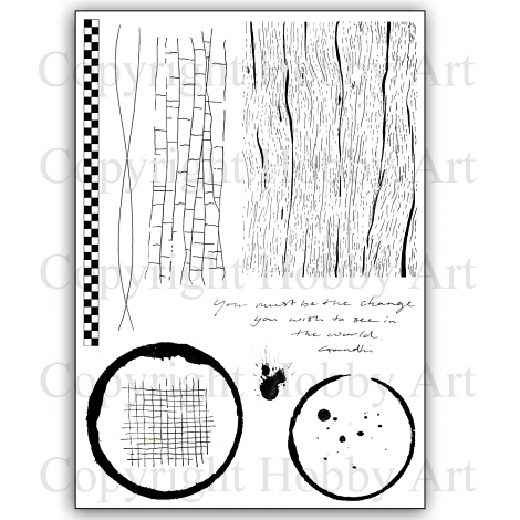 Hobby Art Stamps - Clear Polymer Stamp Set - A5 - Becky's Backgrounds