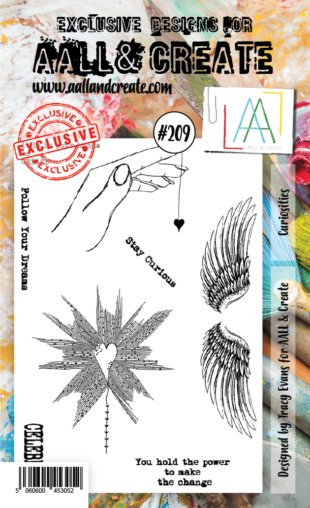 AALL & Create - Clear Stamp Set - #209 - A6 - Curiosities