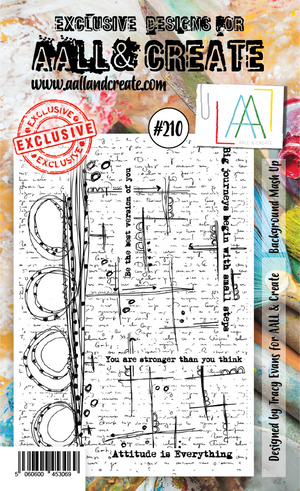 AALL & Create - Clear Stamp Set - #210 - A6 - Background Mash Up