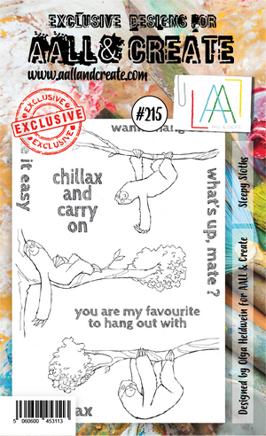 AALL & Create - Clear Stamp Set - #215 - A6 - Sleepy Sloths