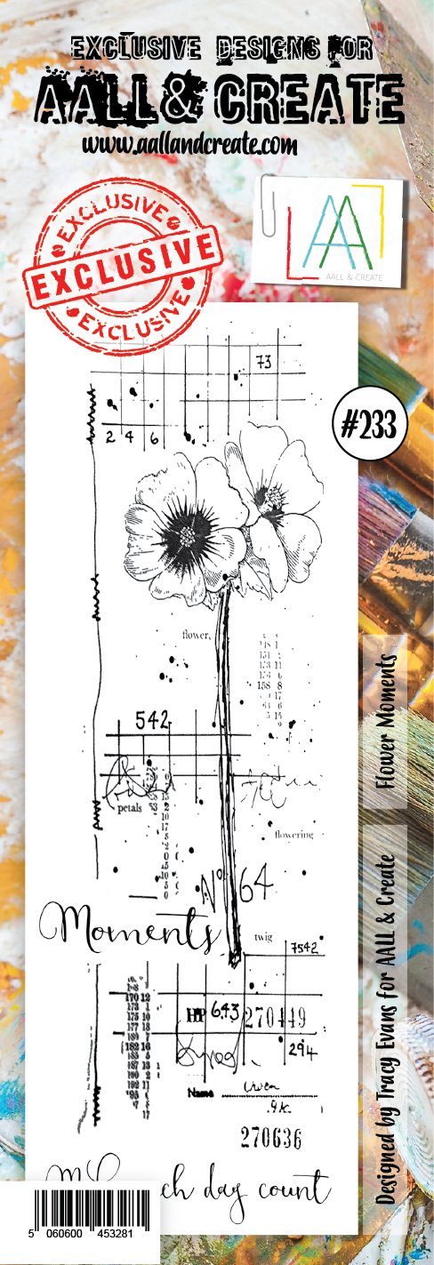 AALL & Create - Clear Border Stamp - #233 - Flower Moments