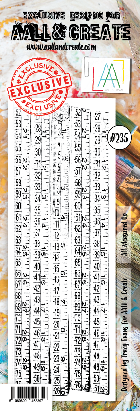 AALL & Create - Clear Border Stamp - #235 - All Measured Up