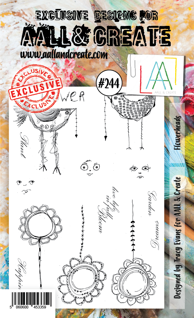 AALL & Create - Clear Stamp Set - #244 - A6 - Flowerheads